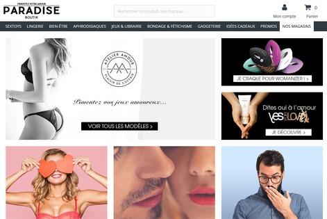 site internet paradise boutik
