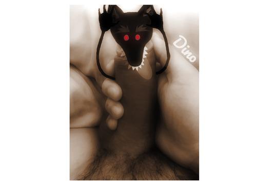 Photomontage le grand méchant loup modifié - sexe