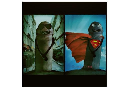 Superhéros - déguisement bite superman