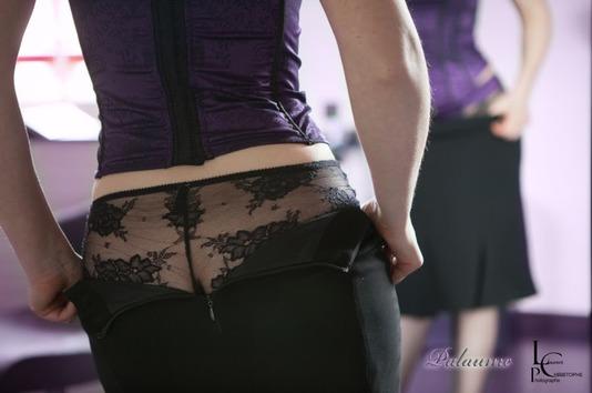 Jeu de miroir - guêpière violette