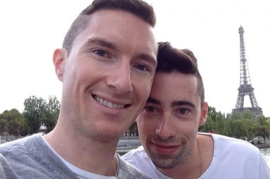 Arthus & Nico, couple gay - selfie