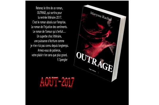 Couverture Outrage - Maryssa Rachel - livre érotique