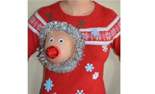 Le renne du père Noël déguisé