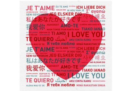 dire je t'aime dans toutes les langues du monde