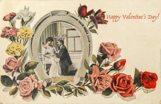 vieille carte postale st valentin