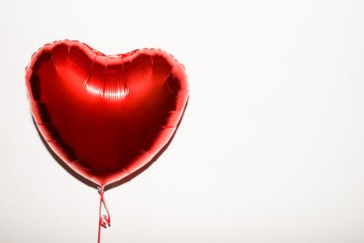 ballon hélium coeur st valentin