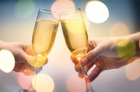Trinque en couple au champagne