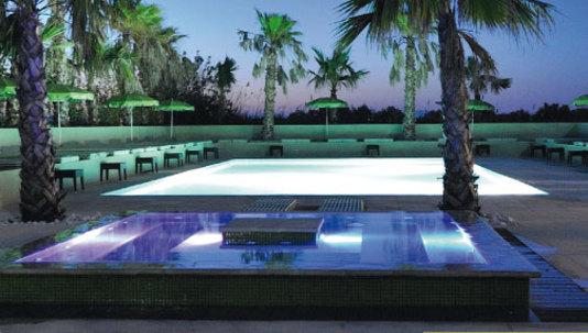 piscine de nuit jardin de babylone